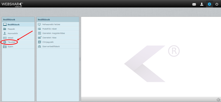 websharkmail beállítások - távollét