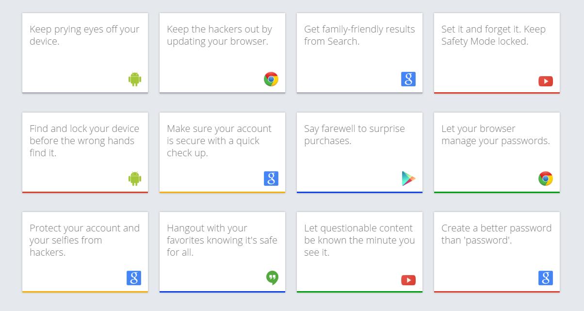 Online biztonsági tippek a Google-től
