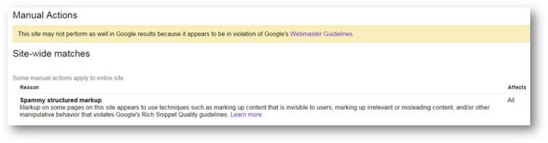 google-strukturalt-adatok-figyelmeztetes