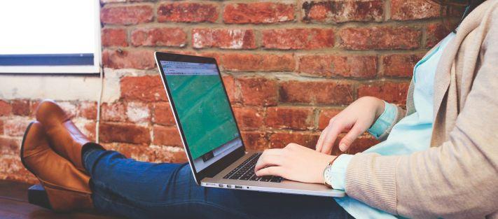 Laptop, felhasználó, web, webdesign, internet