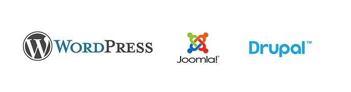 Wordpress, Joomla, Drupal tartalomkezelő rendszerek
