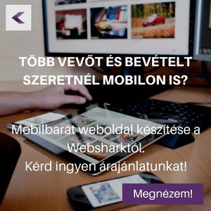 Mobilbarát weboldal a Websharktól