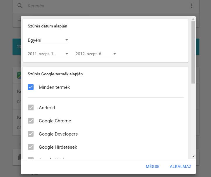 Google, saját tevékenységek
