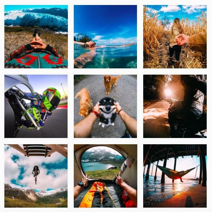 A GoPro képei az Instagramon