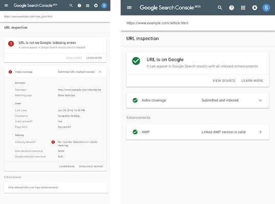 A Search Console új, URL-vizsgáló eszköze