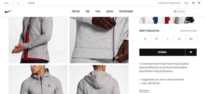 Nike webáruház