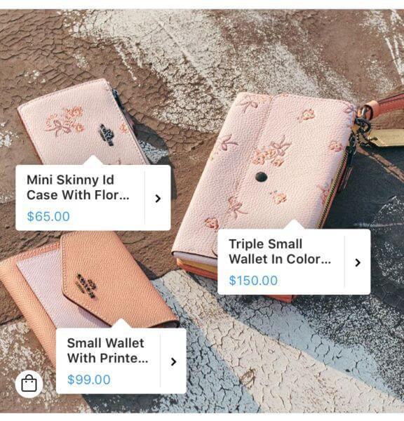 Termékmegjelölés árral és leírással az Instagramon