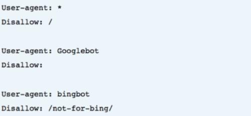 A robots.txt felépítése