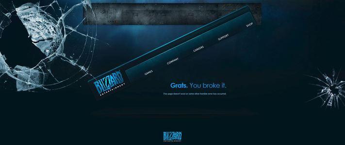 A Blizzard 404-es hibaüzenete