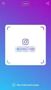 Instagram névcímke