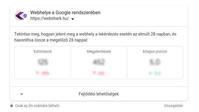 Így jelennek meg a Search Console adatai a Google keresésben
