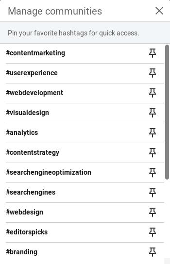 Választható hashtagek a Linkedinen