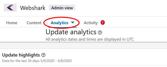 LinkedIn analitika elérése a céges oldalon