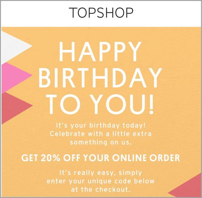 Születésnapi ajándék egy webáruháztól