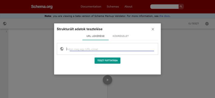 A Schema.org strukturált adat ellenőrző eszköze